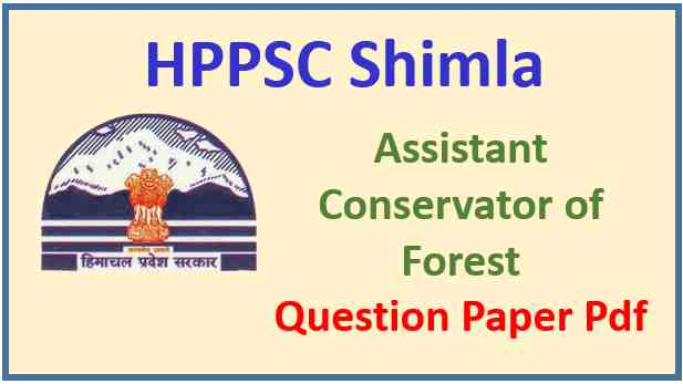 HPPSC ACF Pre Exam Question Paper Pdf