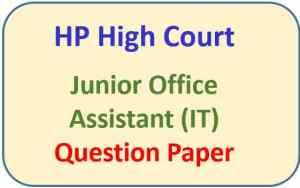 HP High Court JOA IT Question Paper Pdf