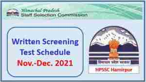 Read more about the article HPSSC Hamirpur Exam Schedule November-December 2021