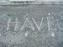 HAVE inscription