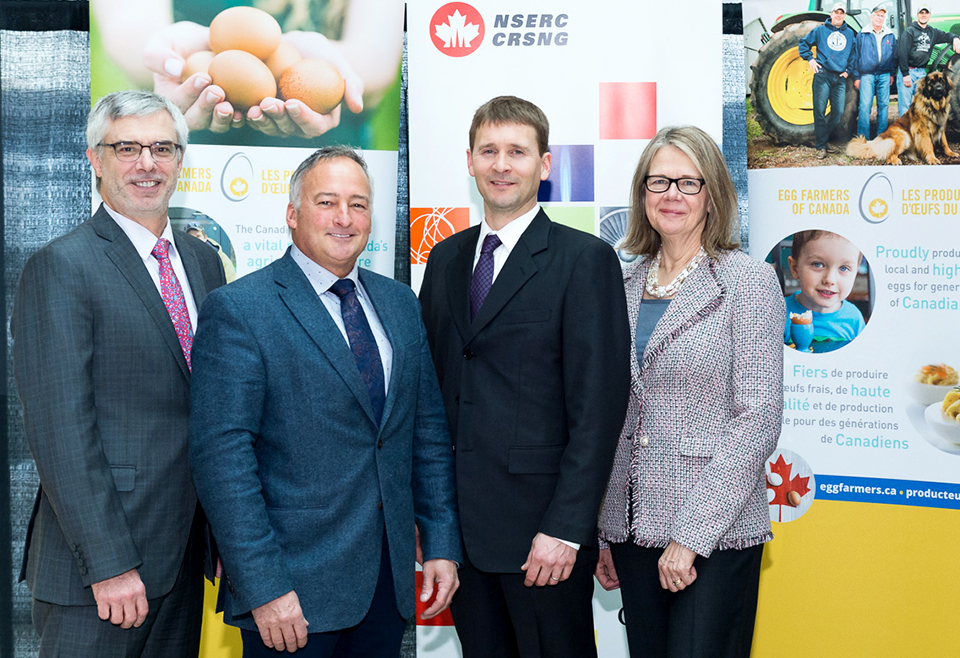 nserc chair design engineering blue wingback with ottoman a dozen questions for the new egg farmers of canada industrial vice president research partnerships marc fortin ceo tim lambert dr nathan pelletier and ubc okanagan deputy chancellor