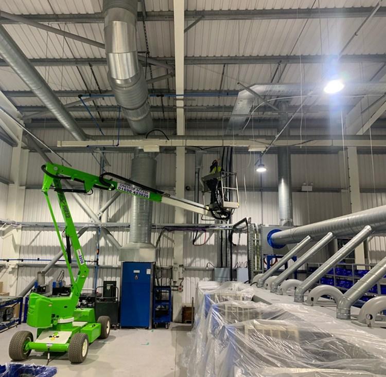 cherry picker warehouse install