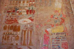 Temple of Hatshepsut 內的壁畫。