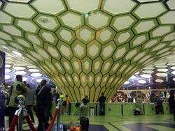Abu Dhabi 機場,十分有中東特色。