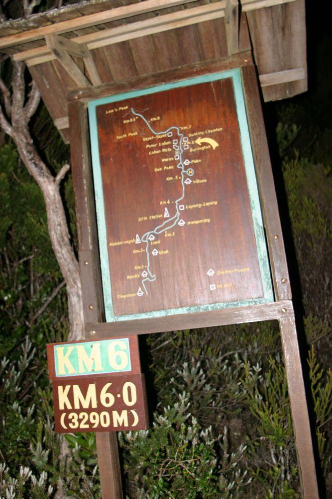 6.0km 標距柱。