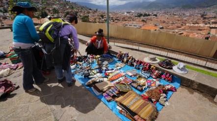 San Cristobal 外的攤擋。