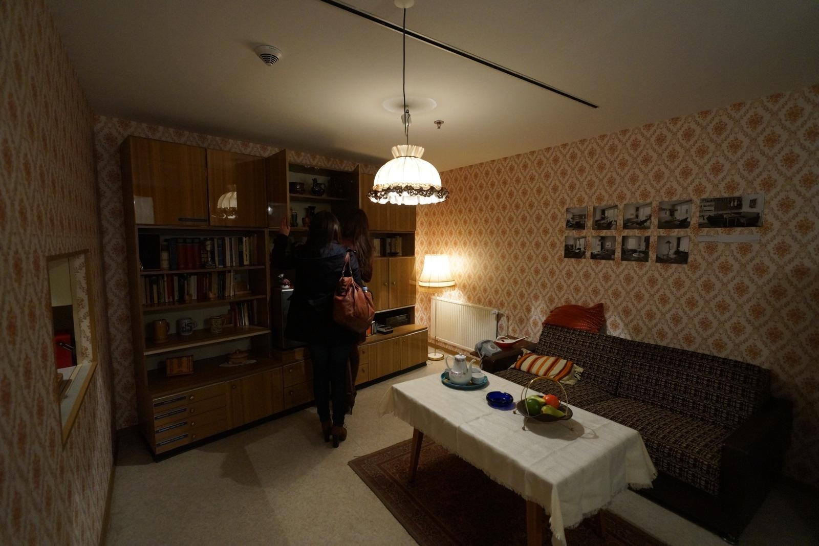 一個東德的博物館展出當時民居內的家具和裝飾,了解當時東德人的生活。