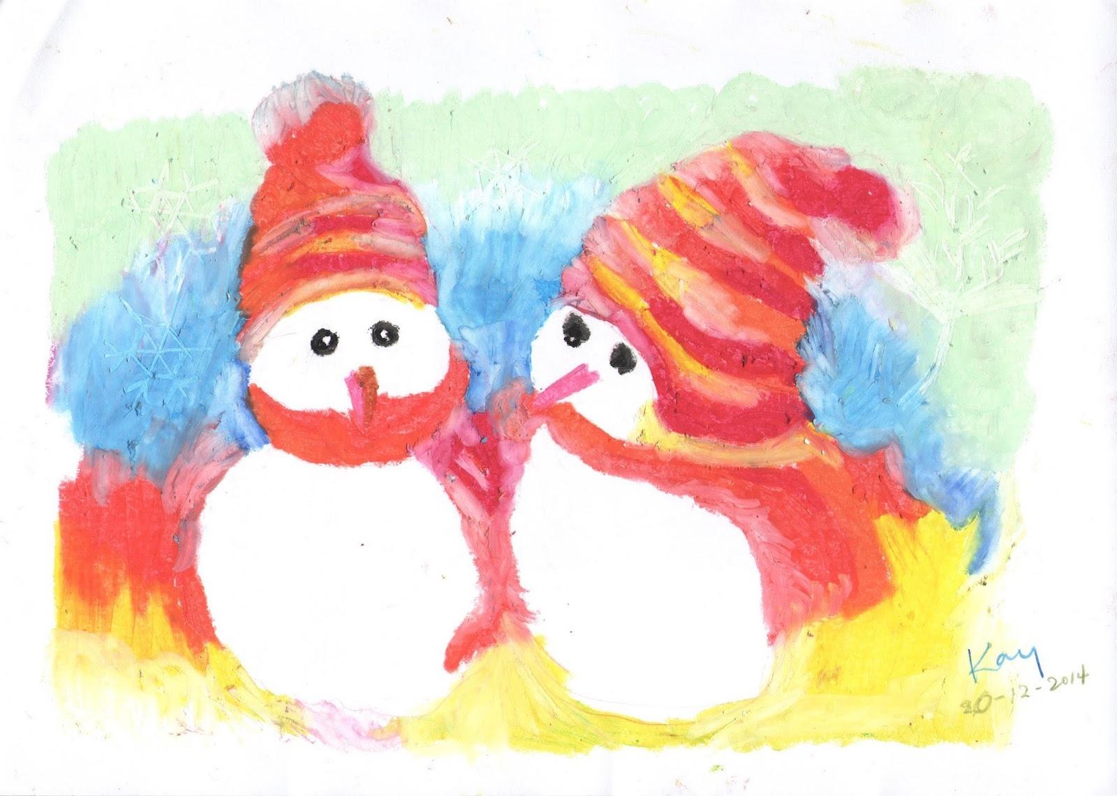 聖誕雪人(課堂示範)