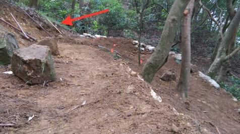 紅箭咀:幾日前築建的彎位,不過寬度不足。