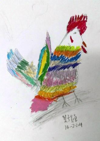 年幼學生雖未掌握輪廓的描寫,卻展現沒有束縛的色彩。