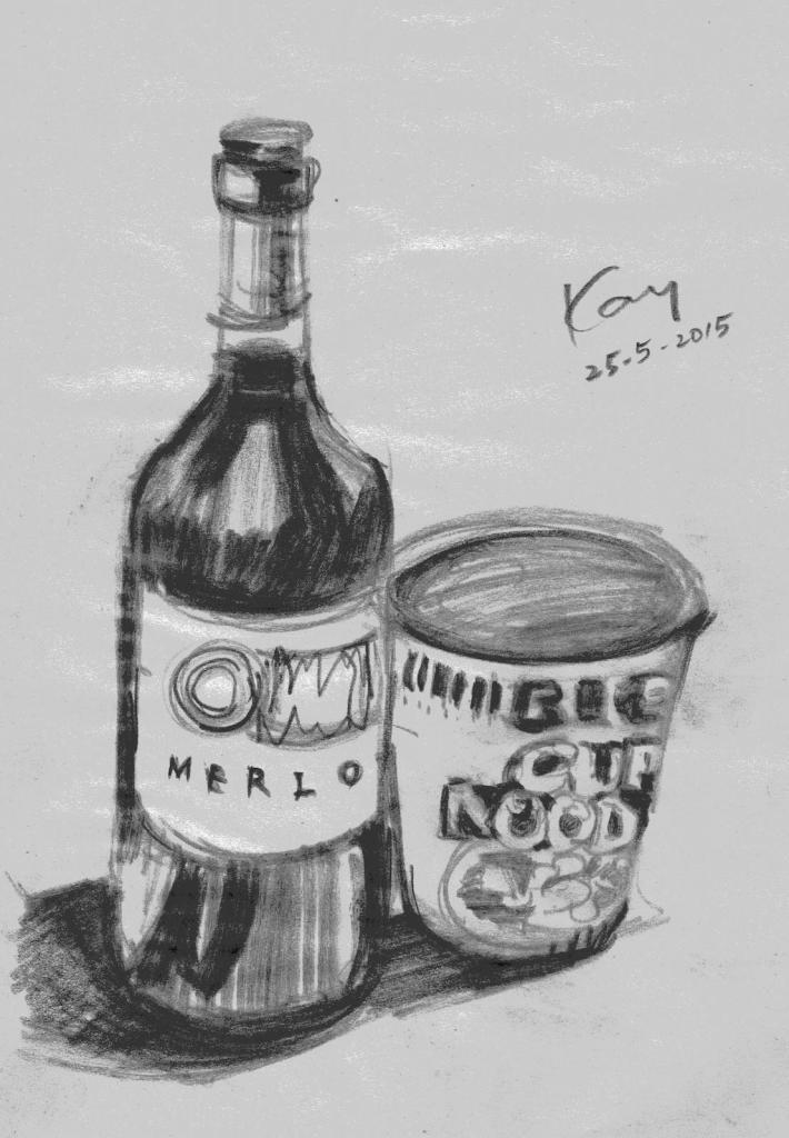 酒樽與杯麵