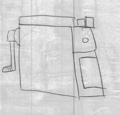 以直覺描繪,忽略透視,把三維空間解構成二維的面(幾何)。