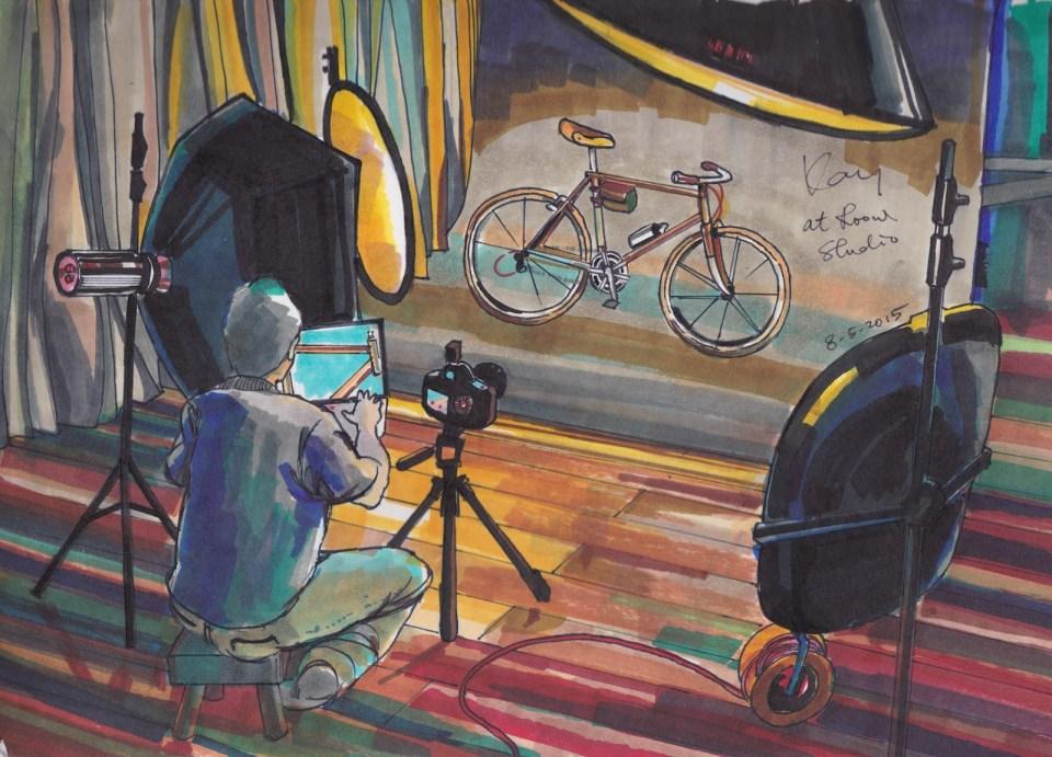 """《單車攝影》Marker 12"""" x 9"""" 8-5-2015"""