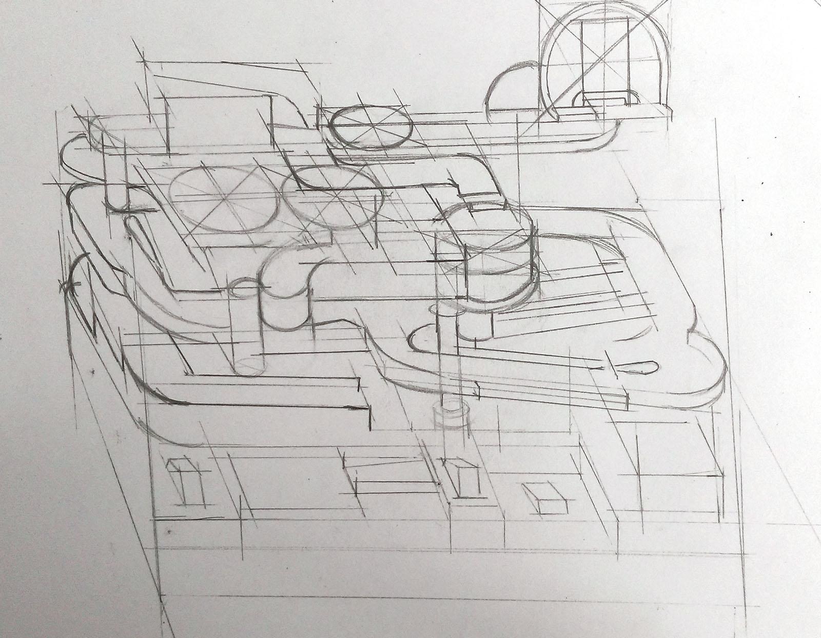 草稿階段 -- 儘量透過觀察,理解迷宮每一層的結構。