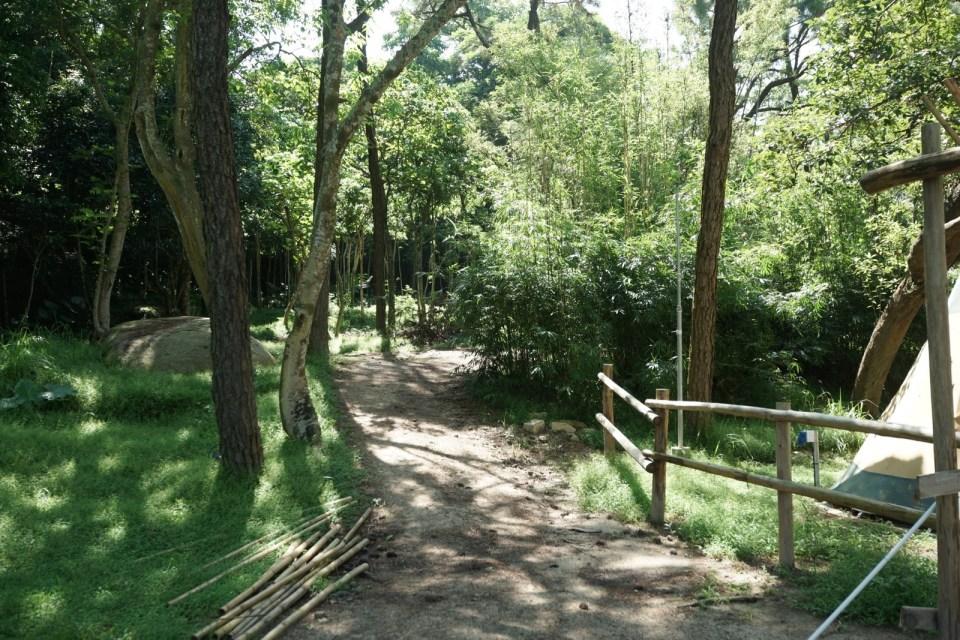 大草地後的上斜路。