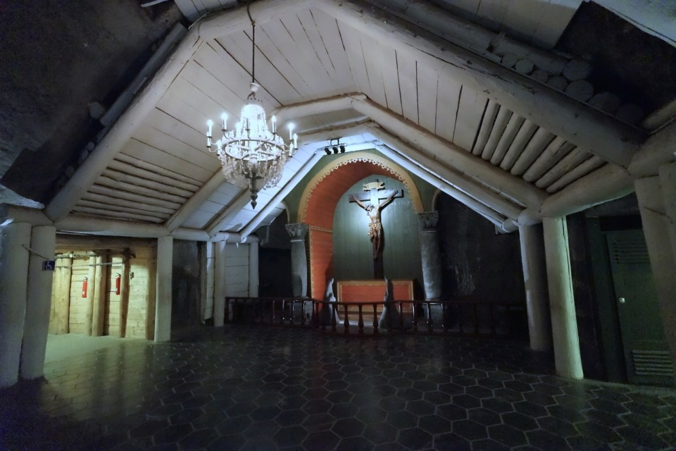 進入 The Chapel of St. Kinga 前的小禮堂。