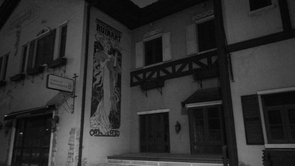 夜遊仿瑞士小鎮