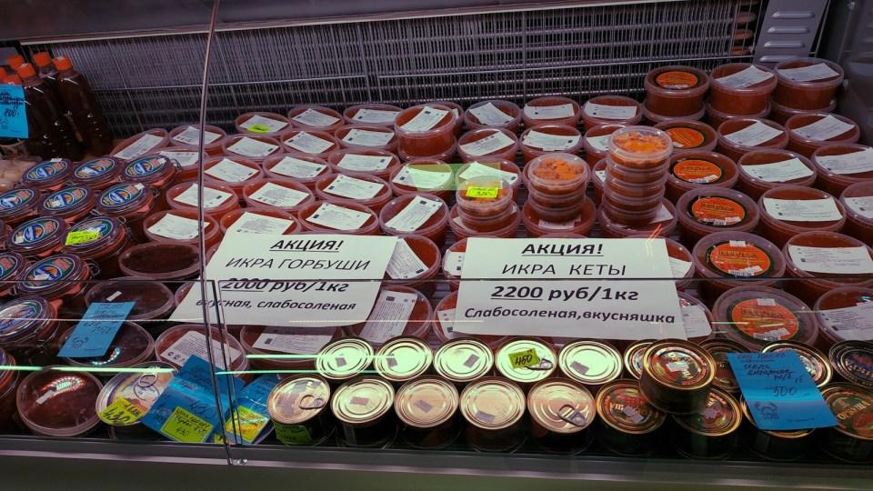 新鮮三文魚籽和海膽,自己算算價錢吧!