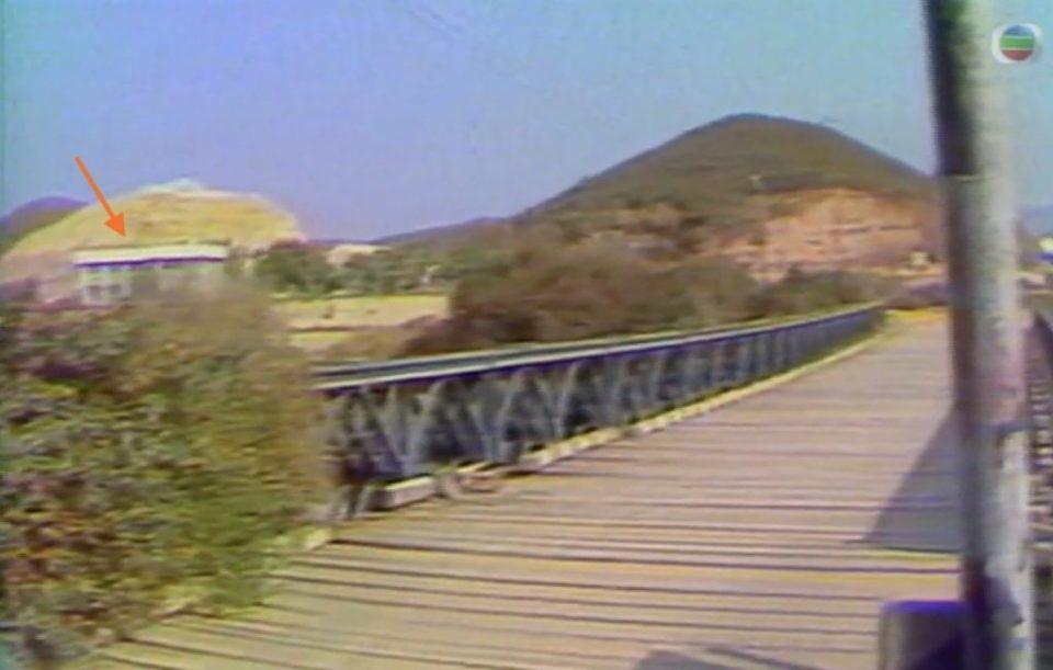 鐵橋和後面的羅湖編組站。