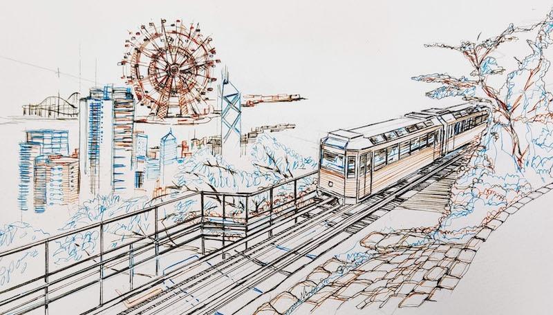 《山頂纜車+《遊樂場 》摩天輪 》(部分)