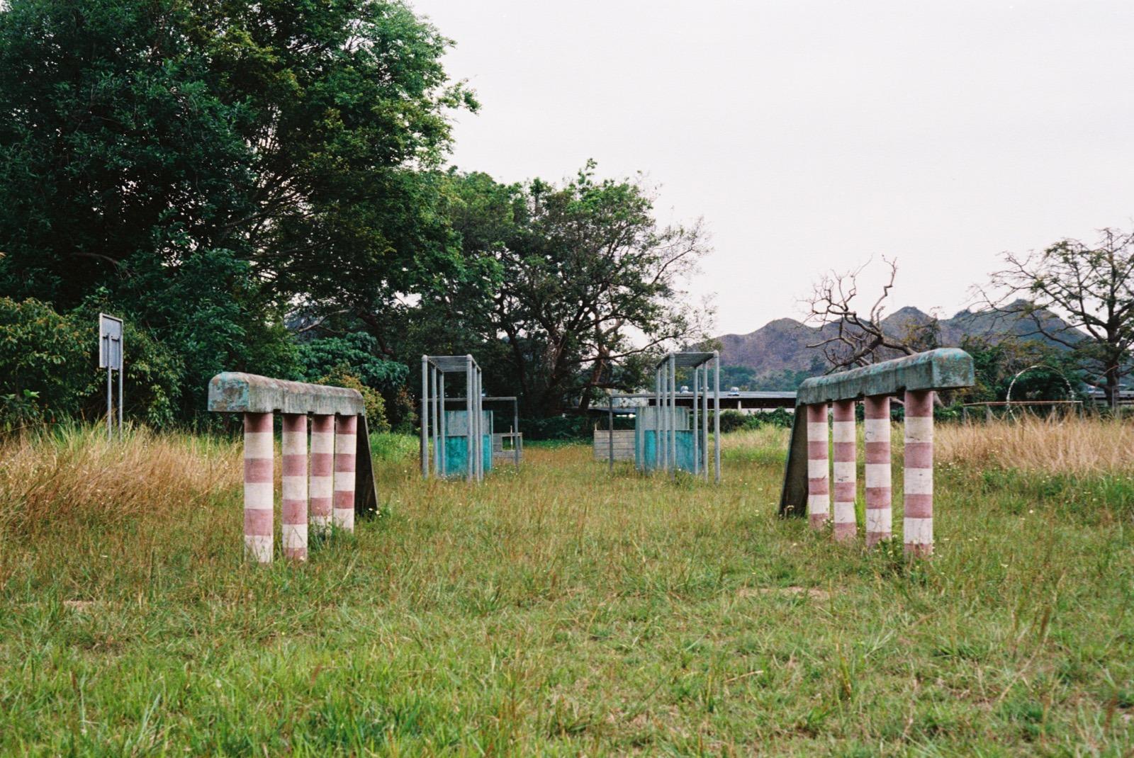 英軍訓練場。