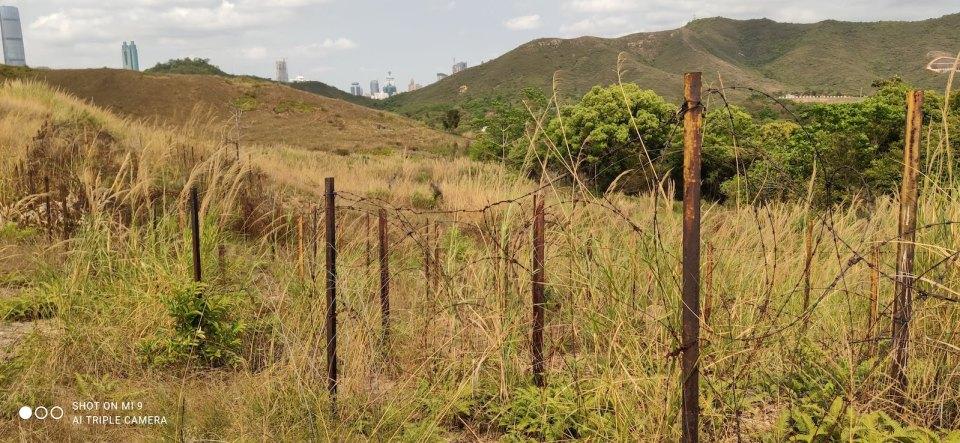舊邊境禁區的鐵絲網也因山火重現人間。