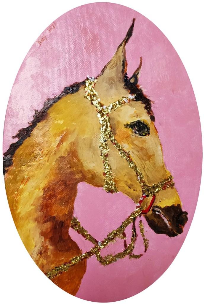 《馬 2》(課堂示範)油彩 17-6-2012