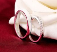 Engravable Sterling Silver Matching Promise Rings For ...