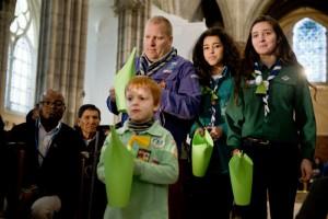Pèlerins climatiques à la basilique de Saint-Denis