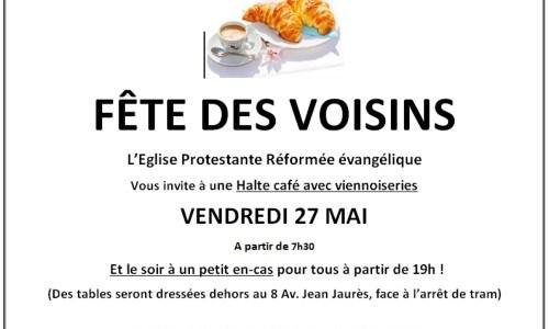 L'Eglise et la Fête des Voisins le 27 mai 2016