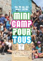 Tract Mini camp pour tous Grizac 2018