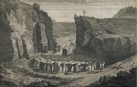 © Private collection, A secret assembly near Nîmes, engraving, Henriquez, 1785