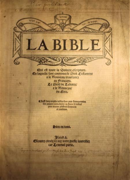 Bibliotheque bible d'olivetan