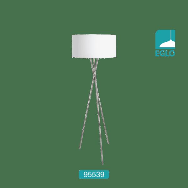 Fabric Floor Lamp in White