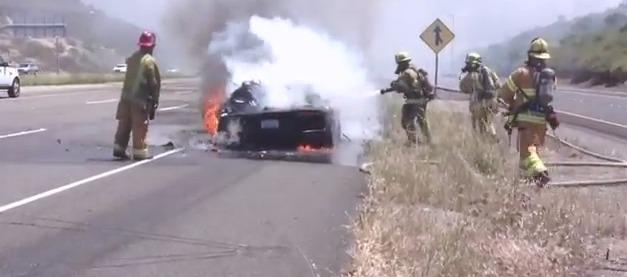 Video: Lamborghini Aventador catches fire during test drive