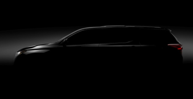 2017 NAIAS Teaser: The new 2018 Chevrolet Traverse, this is almost it