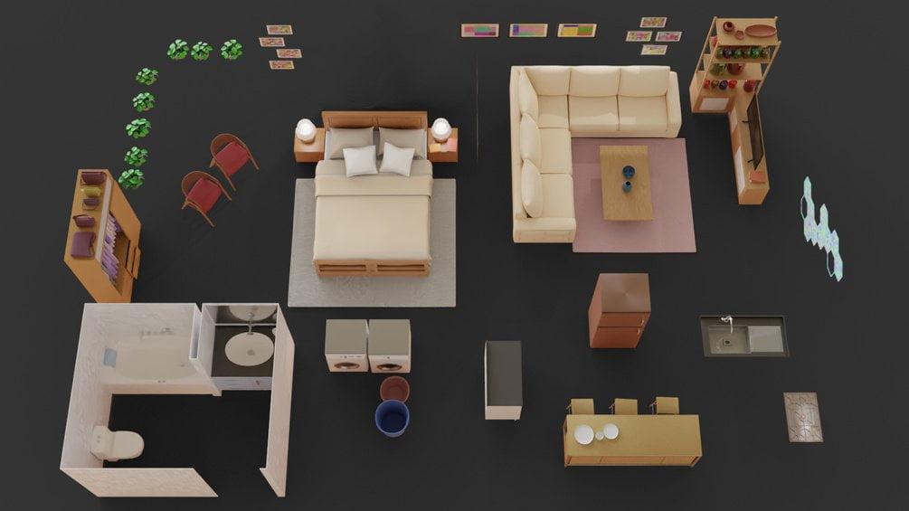 free assets 3d floor plan