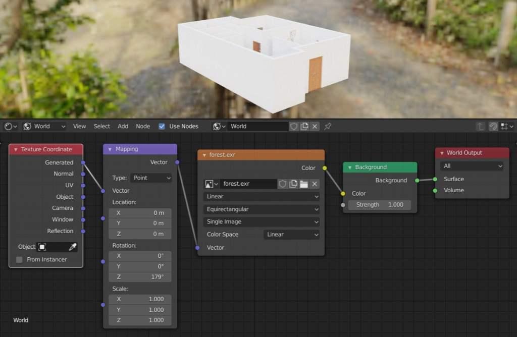 Setări lumini Hdri pentru blender plan 3D
