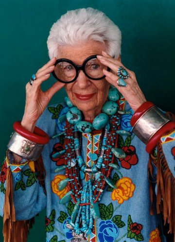 The Irreverent Iris Apfel : Rare Bird of Fashion