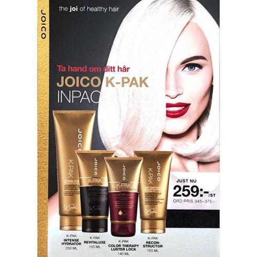 Det är viktigt att ta hand om sitt hår i kylan. Därför har vi en super bra deal på Joico's fyra protein inpackningar. Nu endast 259kr (värde 345-375kr)! Gäller februari ut.