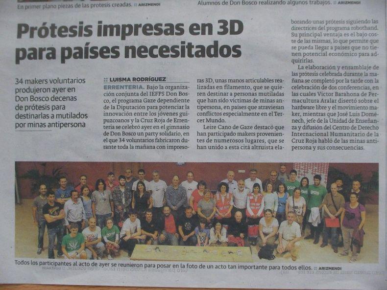Charla 3D en Diario Vasco