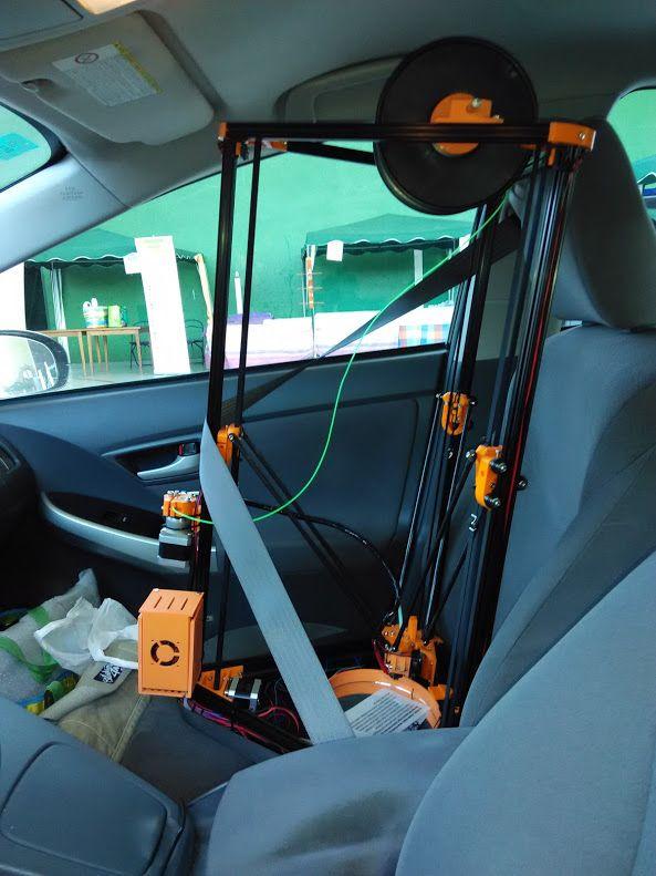 Kossel XL en coche