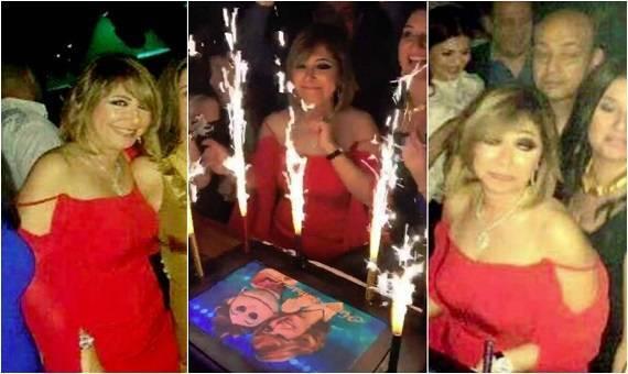 شاهد صور عيد ميلاد لميس الحديدي بحضور عمرو اديب
