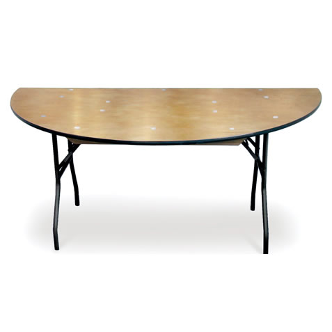 Wood Dining Table Sweetheart Half Round Folding Banquet Egpres