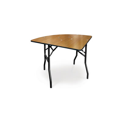 Wood dining table quarter round folding banquet egpres - Folding dining table wood ...