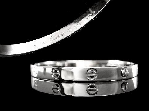 永生名錶珠寶交流中心-《LOVE 手環》 卡地亞 CARTIER 20號 白K金款 近新品