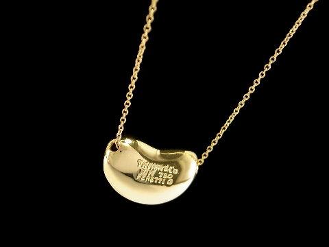永生名錶珠寶交流中心-《豆子 相思豆項鍊》TIFFANY & CO 蒂芬妮 項鍊 黃K金 近新品