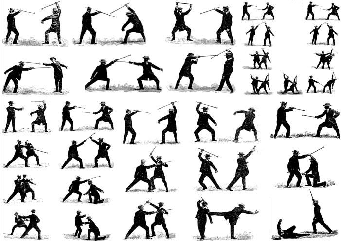 Cane Exercises and Self-Defense: Guides, Bibliography