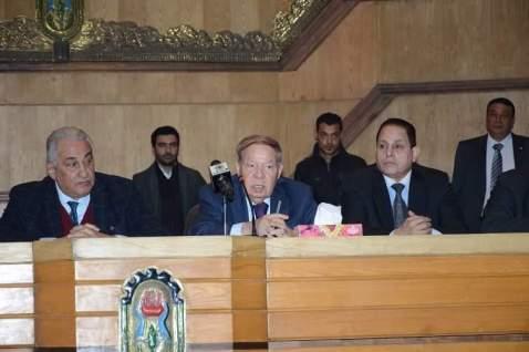 عاشور وسرور خلال إفتتاح معهد المحاماة