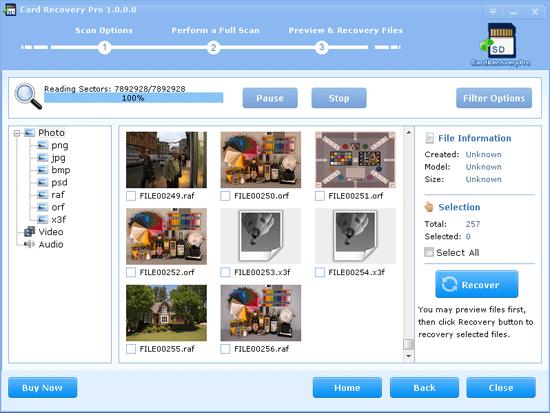 برنامج استرجاع الملفات المحذوفة من كارت الميمورى Recover